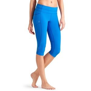Athleta Dobby Be Free Knicker Legging Blue